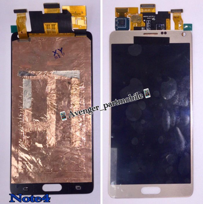 LCD SAMSUNG NOTE4 GLASS